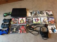 PS3, excellent condition 500gb, wifi, 3 controllers, 13 games