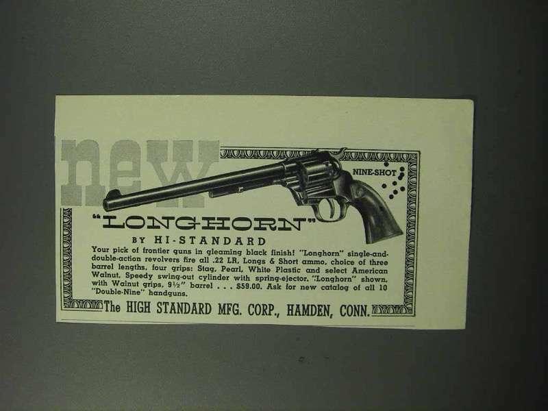 1960 High Standard Longhorn Revolver Ad