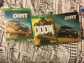 Doom & colin McRae dirt rally Xbox one collection only