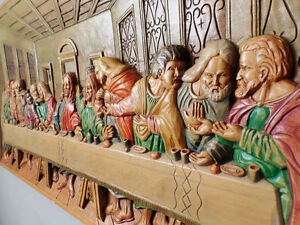 "WOOD CARVING MURAL ""LAST SUPPER'' West Island Greater Montréal image 4"