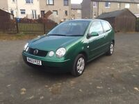 VOLKSWAGEN POLO 1.2,•LOW MILES!•LOVELY CAR!•£1075•(golf fiesta focus vw ford Clio punto Ka Astra)