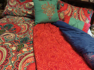 Barely used comforter and duvet