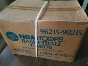 Unopened case of 1990-1991 NBA Hoops Basketball cards