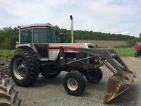 1977 White 2-155 Tractor With Loader