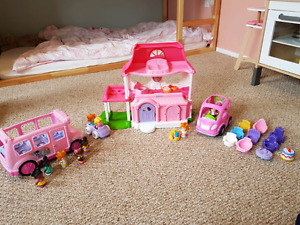 Little People toy lot - includes bus, cars, people and extras