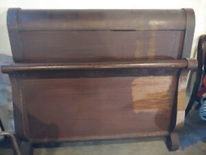 Antique Sleigh Bed (Queen Size) for sale - needs refinishing