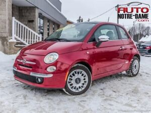 Fiat 500 HB Lounge CUIR TOIT MAGS 39.20$ / Semaine*  2014