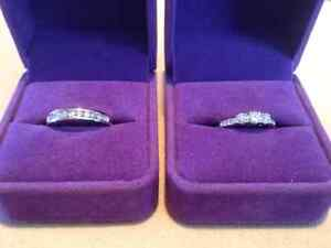 Wedding set for sale (.54 ctw+ engagement ring) (.30 ctw band)