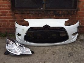 Citroen ds3 2010 2011 2012 2013 genuine front bumper + driver headlight for sale