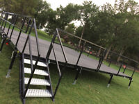 CHEAP Renting MOBILE STAGE 24' x 24' we will deliver to your pla