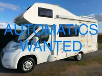 AUTOMATIC MOTORHOMES AND CAMPERS WANTED!