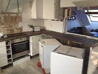 Zebra block kitchen worktop from Wickes
