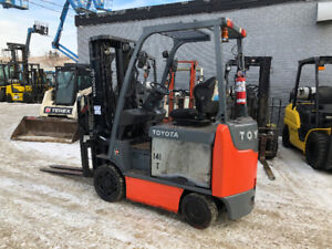 2013 TOYOTA ELECTRIC FORKLIFT 5,500 LBS CAPACITY