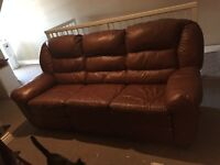Leather Elran reclining Couch & Chair