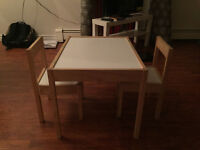 2 Small Kids Chairs and a Table