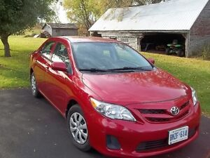 2012 Toyota Corolla Sedan with warranty