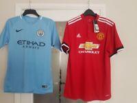 Adults football tops and kids kits