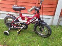 """12"""" wheel kid bike with stabilisers"""