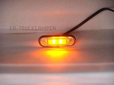 LED UMRISSLEUCHTE -MIT SOCKEL - EINBAUVARIANTE GELB / ORANGE - 78x22mm 12/24