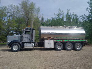 Water truck 22 cube stainless steel