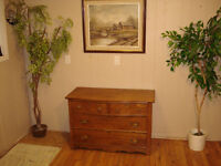 Antique Oak Window Chest