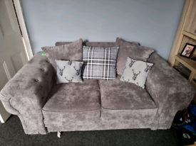 2 + 3 seater grey sofas nearly new