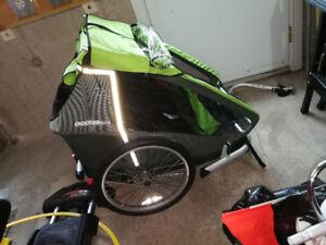 Réservé - Remorque à bicyclette/vélo pour 2 enfants