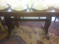 ANTIQUE TABLE & 6 CHAIRS FROM SWEDEN