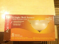 2 lights wall sconce (new)