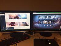 samsung syncmaster dual gaming monitor setup