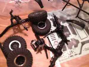 Axial scx10 with jeep wrangler body kit (roller or electronics)