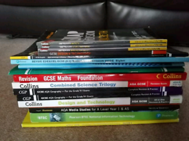 A Variety of GCSE/BTEC/A Level Books for Revision