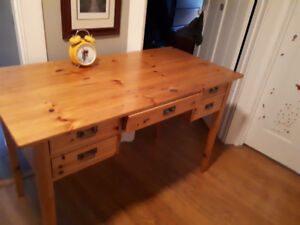 Pine IKEA desk for back to school