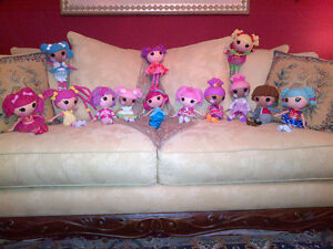 Collection of MINT Lalaloopsy 14 Full Size Dolls & Fashion Packs