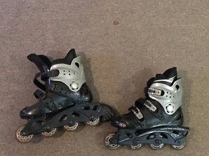 Patins roues àlignées femmes / Womens roller blades West Island Greater Montréal image 1