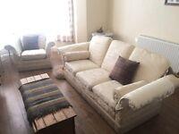 Parker knoll style drop arm sofa
