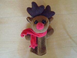 2 marionnette à doigt identiques renne du Père Noel