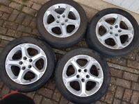 "Genuine Ford Mondeo 16"" Alloy wheels Tyres 5x108 Fits lots of Fords"