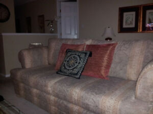 Sofa and loveseat.