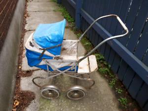 Vintage Baby Stroller Play Pram