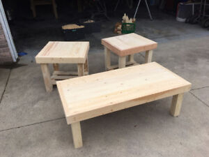 Custom Coffee Table and End Tables