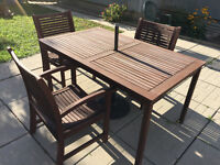 Solid Wood  Patio Set for 6-10 People