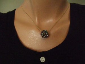 Necklace crystal Swarovski decadohedron
