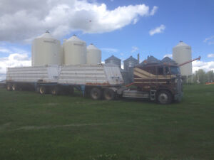 Truck and grain trailers