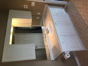 Bathroom vanity with mirrors- $350 or best offer