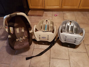 Infant Car Seat with 2 bases, Exersaucer, Carriers, and more....