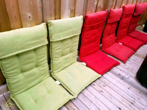Chair cushions for patio - in new condition