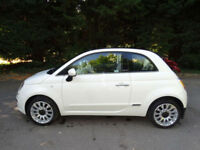 2012 (12) FIAT 500C 1.2 LOUNGE - RED CONVERTIBLE ROOF - HALF LEATHER - LOW MILES