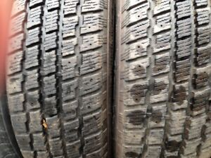 Two P203/70R15 Snow Tires