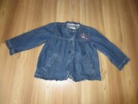 "GIRLS ""OSHKOSH B'GOSH"" JEAN JACKET - SIZE 12"